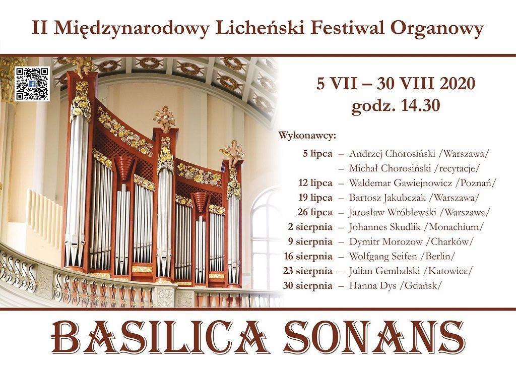 II Międzynarodowy Licheński Festiwal Muzyki Organowej (zapowiedź i program)