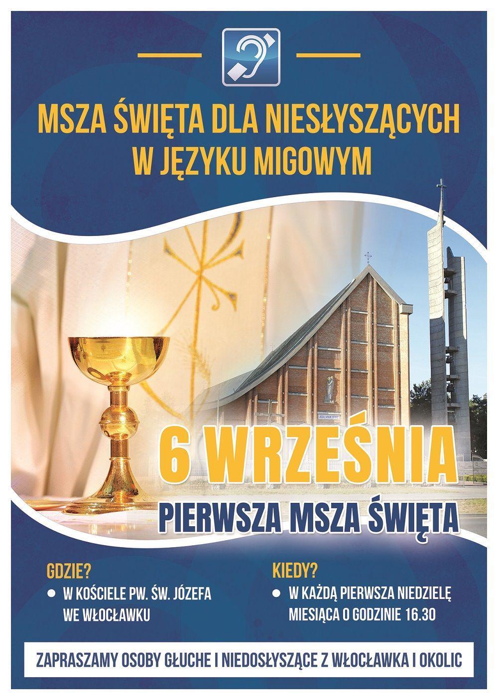 Msza św. dla niesłyszących w języku migowym (zaproszenie)