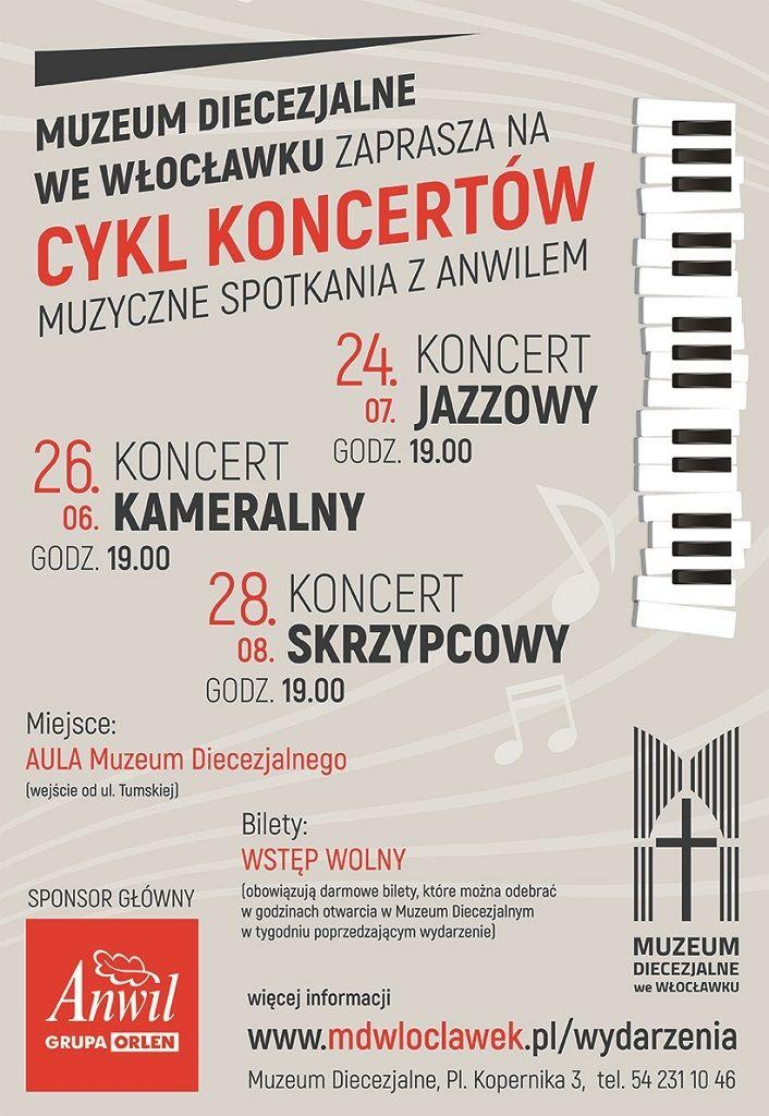 Cykl koncertów w Muzeum Diecezjalnym (zaproszenie)